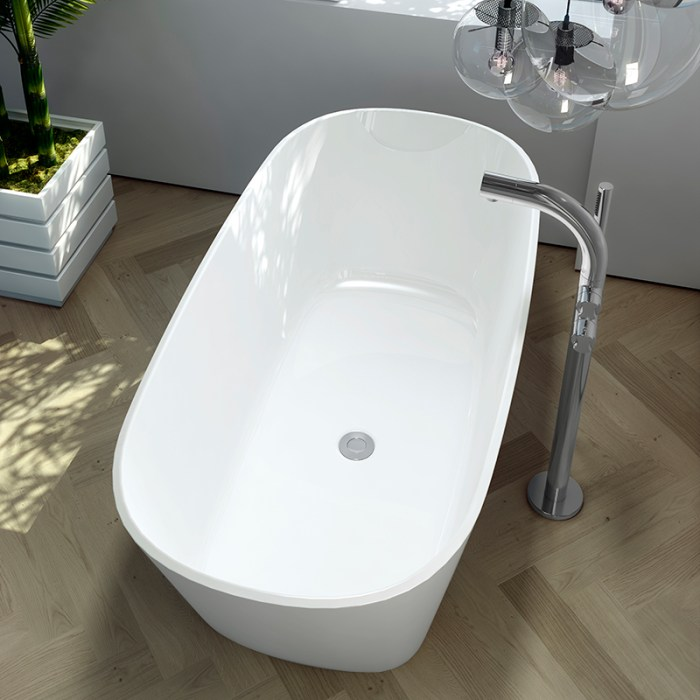 Victoria + Albert Vetralla matte white stone bath, distributed in Australia by Luxe by Design, Brisbane.