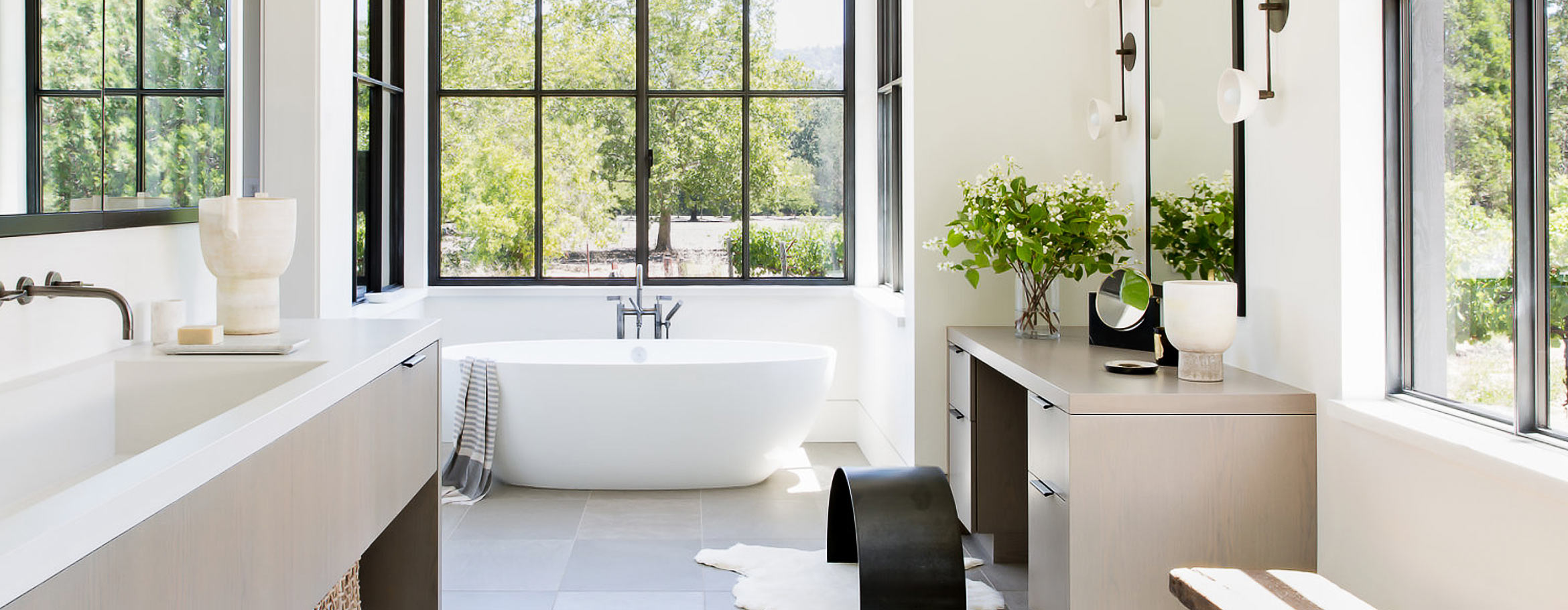 Indoor or outdoor stone baths Australia - Victoria + Albert baths and basins are distributed in Australia by Luxe by Design, Brisbane.