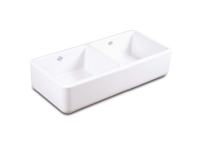Shaws Farnworth Double 930 fireclay butler sink with no overflow. Distributed in Australia by Luxe by Design, Brisbane