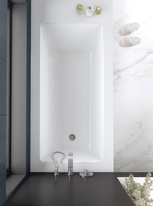 Victoria + Albert Kaldera 6 1650mm stone inset or undermount bath. Distributed in Australia by Luxe by Design. Brisbane.
