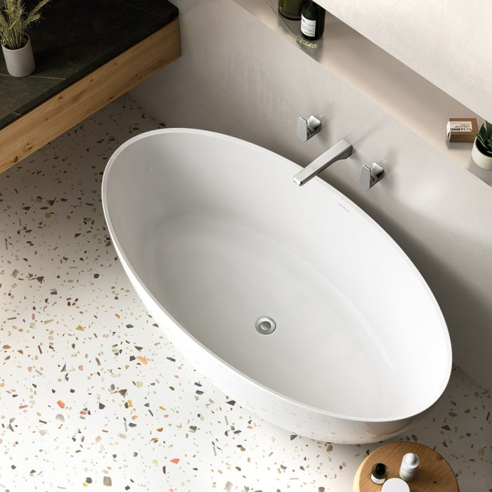 Victoria + Albert Corvara white stone 1500mm bath, distributed in Australia by Luxe by Design, Brisbane.