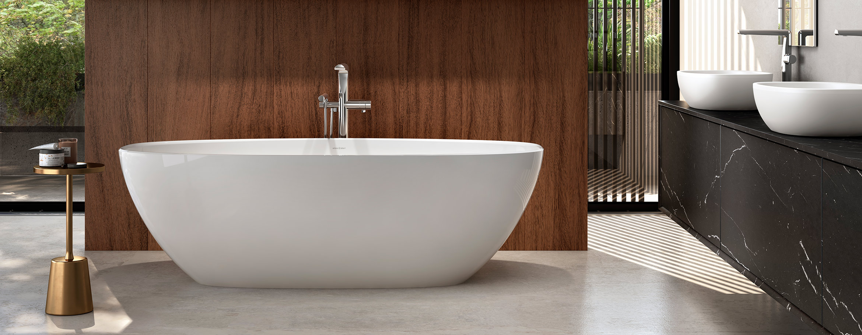 Victoria + Albert Barcelona 1800 stone bath. Distributed in Australia by Luxe by Design, Brisbane.