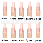 nail shapes - luxe day spa tampa