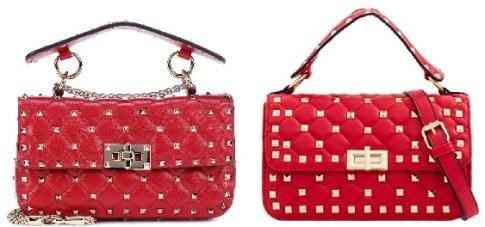 Valentino Red Rockstud Bag and Valentino Bag Look-Alikes