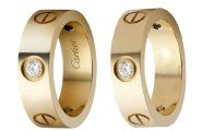 Cartier Gold Diamond Love Rings and Cartier 6mm Gold Diamond Love Ring Dupes