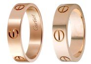 Cartier Rose Gold Love Rings and Cartier 6mm Rose Gold Love Ring Dupes