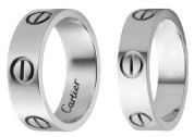 Cartier Silver Love Rings and Cartier 6mm Silver Love Ring Dupes