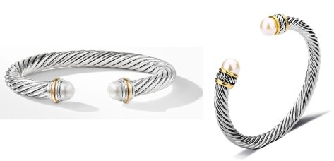 David Yurman Classic Cable Pearl Bracelets Dupes