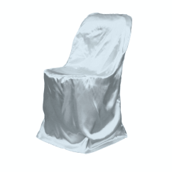 Banquet Chair Covers Rent Aluminum Makeup Grey Satin Folding Cover  Luxe Event Rental