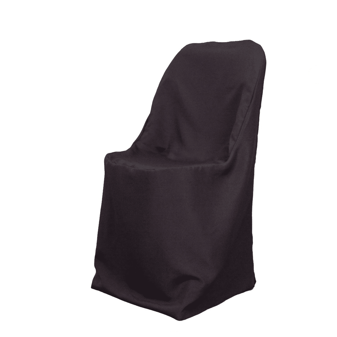 Chair Cover Rentals Black Polyester Folding Chair Cover Luxe Event Rental