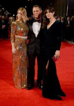 """Craig, Bellucci and French Lea Seydoux, who also played in the new film """"James Bond"""""""