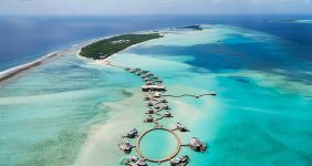 Own villa on a desert island Maldives