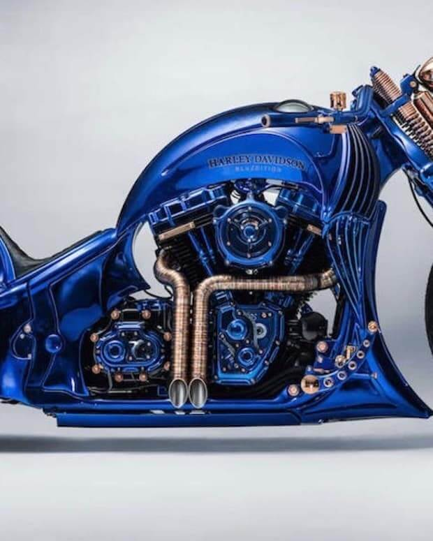 Harley-Davidson Blue Edition - the most expensive motorcycle in the world