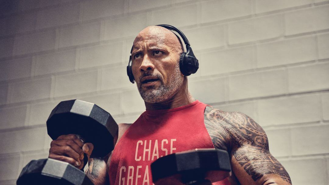 "Dwayne ""Rock"" Johnson introduced ""branded"" wireless headphones"