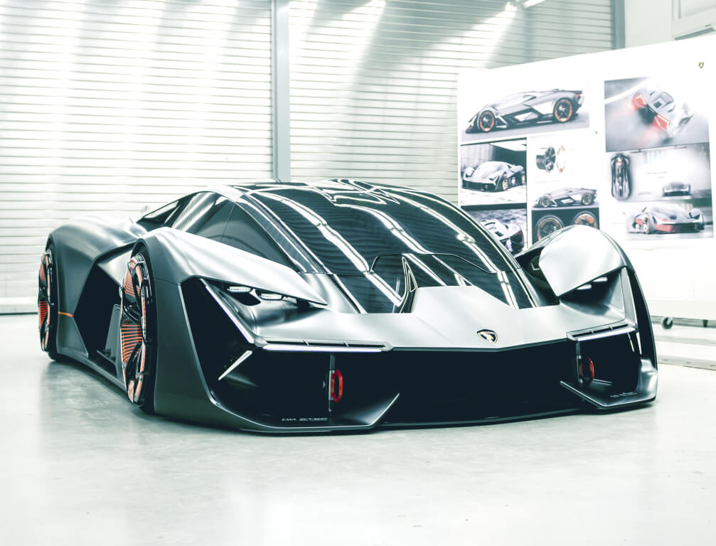 The new supermodel Lamborghini was shown only to its people