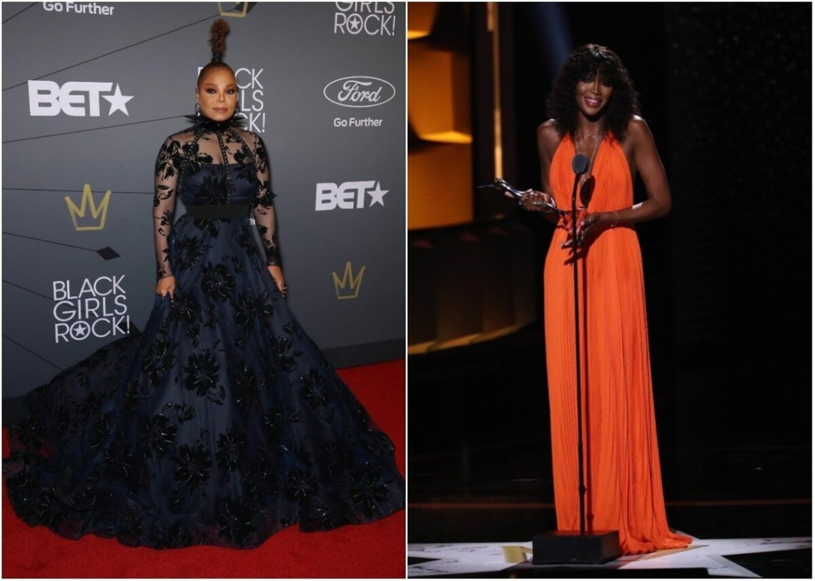 Naomi Campbell and Janet Jackson attended the Black Girls Rock 2018
