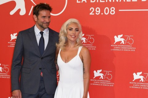 Lady Gaga and Bradley Cooper held hands at a festival in Venice