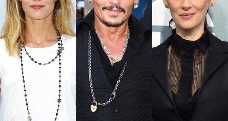 Former lovers of actor Johnny Depp Vanessa Paradis and Winona Ryder