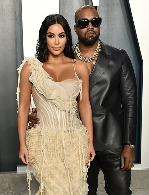 Kim Kardashian and Kanye West Photo: Frazer Harrison / Getty Images