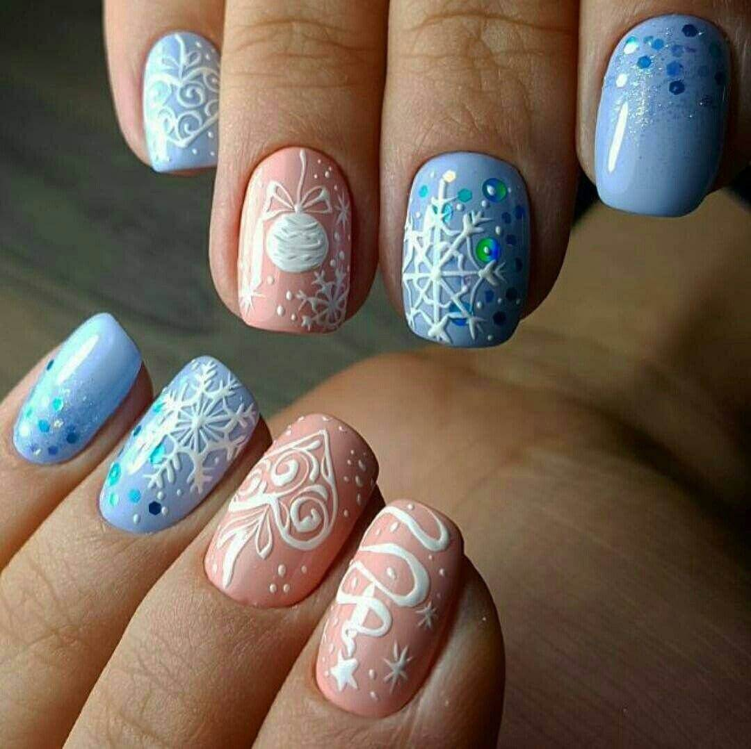 New Year's Manicure Thematic design