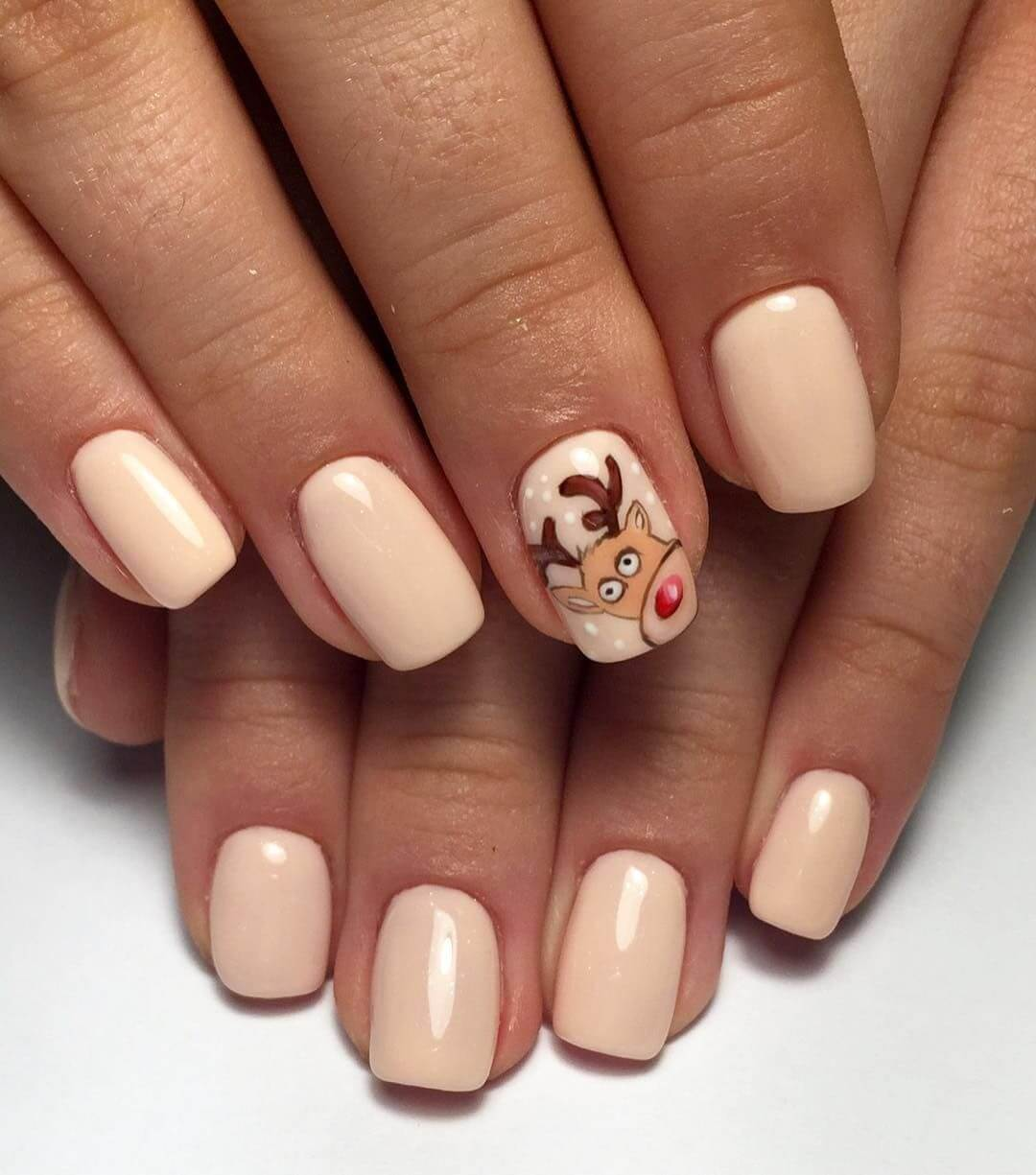 New Year's Manicure Animals design