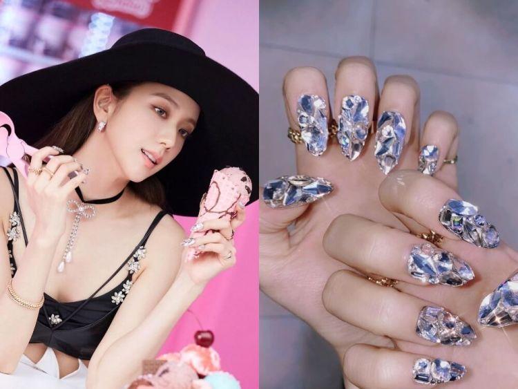 Singer Kim Ji Soo (@nail_unistella) Crystal manicure