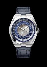 World Time Overseas 7700V-110A-B172bracelet cuir