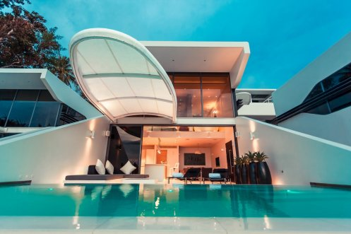 LuxeGetaways - Luxury Travel - Luxury Travel Magazine - Luxe Getaways - Luxury Lifestyle - Luxury Villa Rentals - Affluent Travel - Kata Rocks Phuket Thailand - Villa view with pool