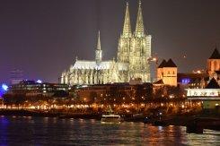 Cathedral of Cologne at night taken from Viking Kvasir