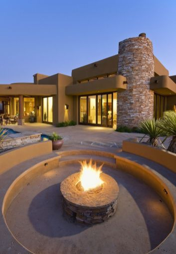 LuxeGetaways - Luxury Travel - Luxury Travel Magazine - Ritz Carlton Dove Valley - Private Residence - luxury real estate - Desert Living - Fire Pit