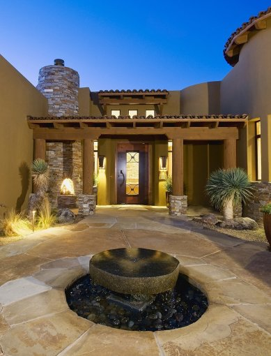 LuxeGetaways - Luxury Travel - Luxury Travel Magazine - Ritz Carlton Dove Valley - Private Residence - luxury real estate - Desert Living - Entryway - Courtyard