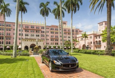 LuxeGetaways - Luxury Travel - Luxury Travel Magazine - The Boca Raton Resort by Waldorf Astoria - Exterior with Maserati