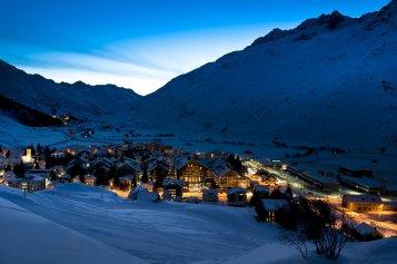 LuxeGetaways_Chedi-Andermatt_Switzerland_Slimming-Wellness-Retreat_Andermatt-Village_Sunset_Mountain-Village