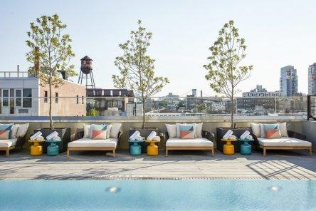 LuxeGetaways - 25 Poolside Experiences - Luxury Hotel Pools - The William Vale - Pool Lounge