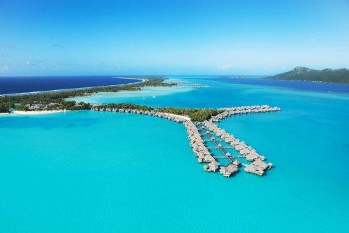 LuxeGetaways - Luxury Travel - Luxury Travel Magazine - Luxe Getaways - Luxury Lifestyle - St Regis Bora Bora - Starwood Bora Bora - Marriott Bora Bora - Overwater Villa - Aerial View