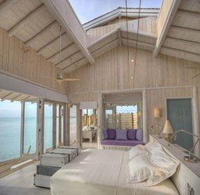 LuxeGetaways - Luxury Travel - Luxury Travel Magazine - Luxe Getaways - Luxury Lifestyle - Luxury Villa Rentals - Affluent Travel - Soneva Jani Water Villas - Medhufaru Island - Republic of Maldives - opening roof in bedroom