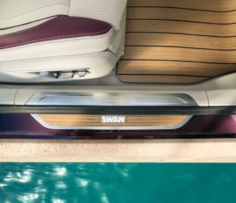 LuxeGetaways - Luxury Travel - Luxury Travel Magazine - Luxe Getaways - Luxury Lifestyle - BMW - BMW Individual - Luxury Cars - Luxury Auto - Nautor's Swan - BMW M760 - sailing yacht inlay