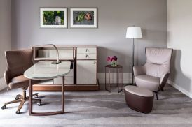 LuxeGetaways - Luxury Travel - Luxury Travel Magazine - Luxe Getaways - Luxury Lifestyle - LuxeGetaways_Ritz-Carlton Geneva_Marriott-International_Hotel-De-La-Paix - Luxury Hotel - Hotel Opening - Europe Luxury Hotel - Swiss Hotel - Bedroom - Desk