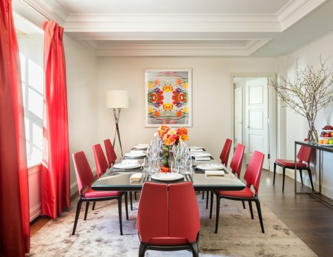 LuxeGetaways - Luxury Travel - Luxury Travel Magazine - Luxe Getaways - Luxury Lifestyle - The Mark Hotel New York City - Five Bedroom Terrace Suite - Madison Avenue - Luxury Hotel - NYC - Dining Room