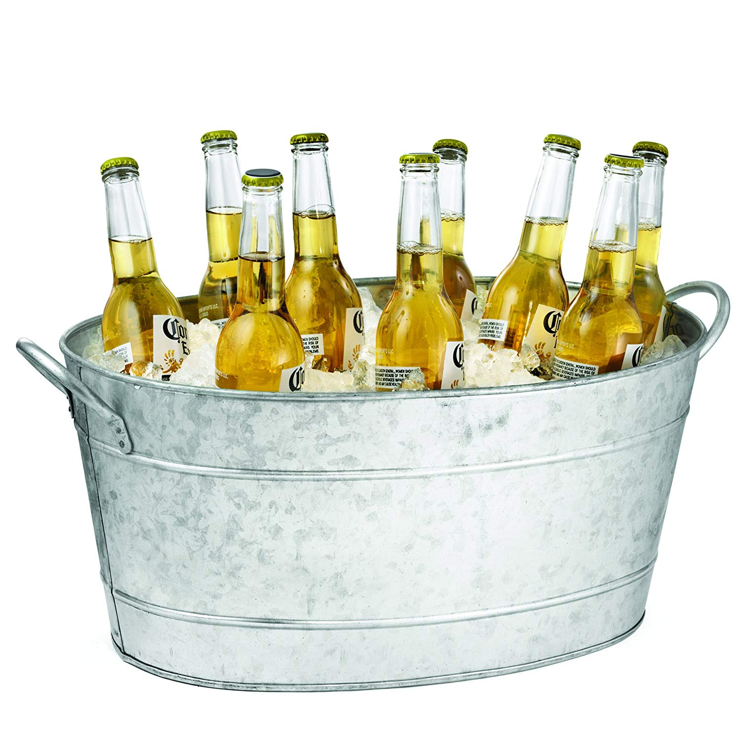 Table craft galvernised oval beverage tab 5.5 litres