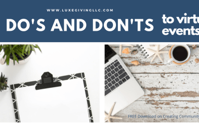 Do's and Don'ts For Virtual Events