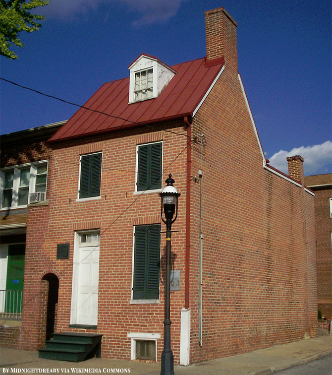 Edgar Allan Poe House and Museum in Baltimore Maryland