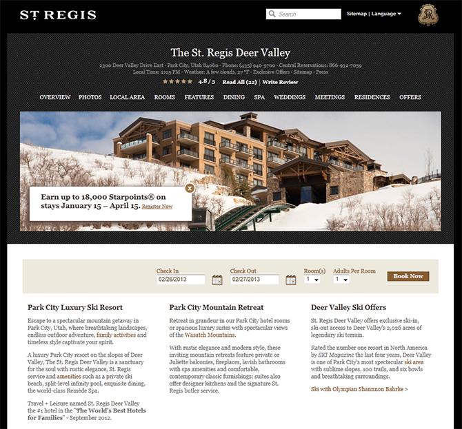 The St. Regis Deer Valley Resort (Deer Valley, United States)