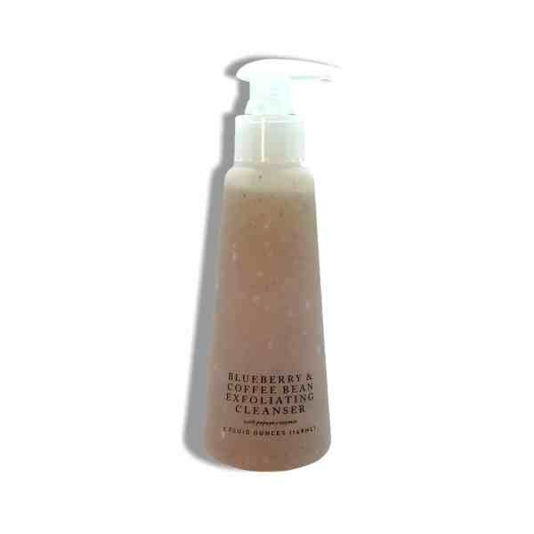 blueberry coffee bean exfoliating cleanser