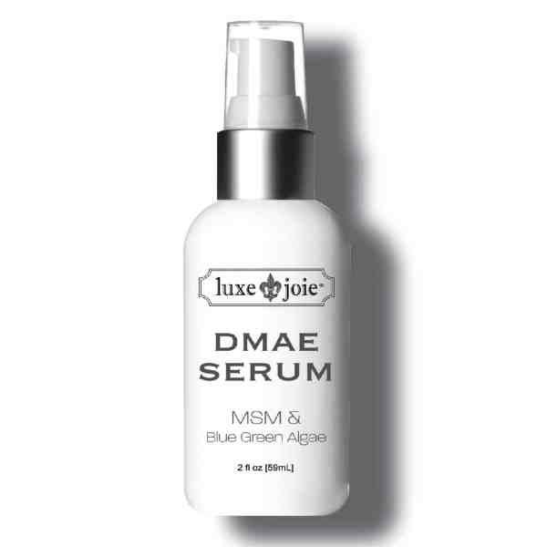 dmae serum on white background