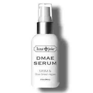 dmae serum on white background