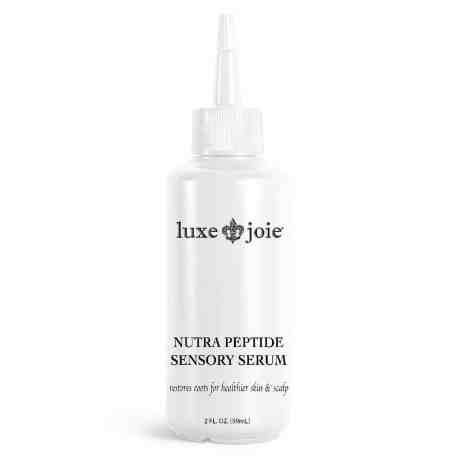 nutra peptide scalp serum on white background