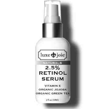 retinol serum on white background