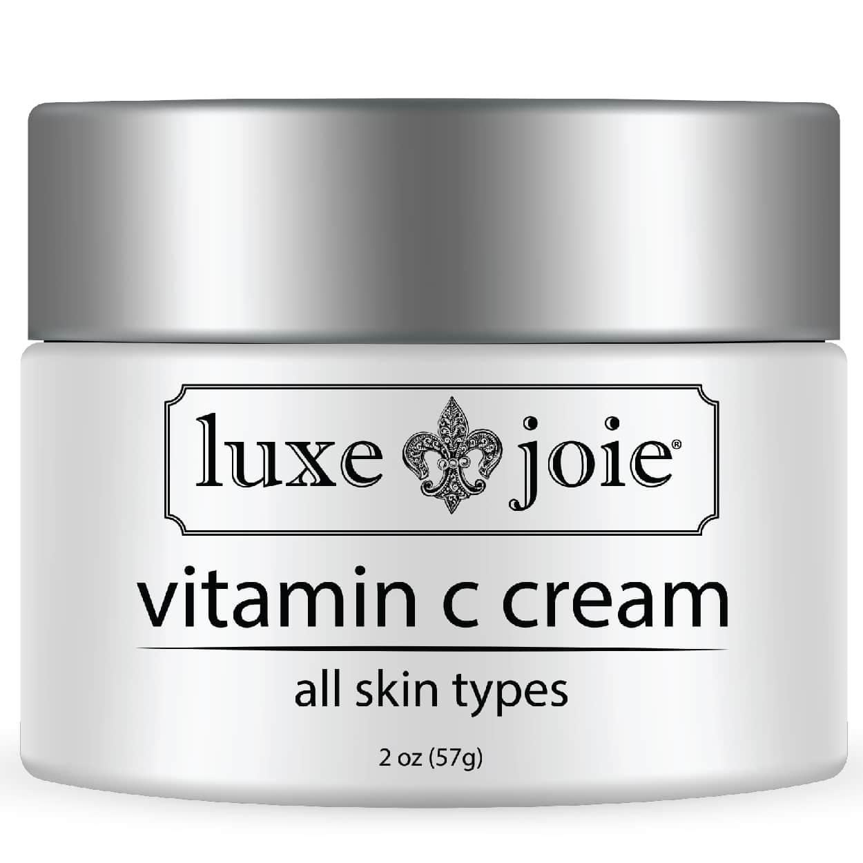 vitamin c cream on white background