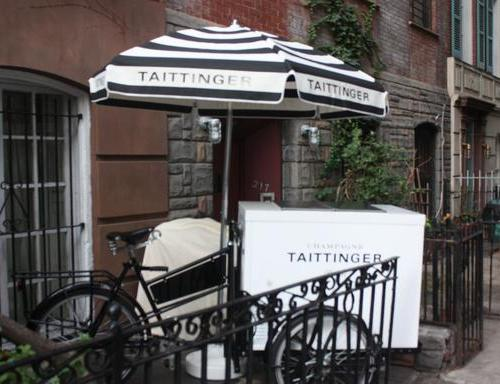 Taittinger's (Very) Early Winter Holiday Press Party Rocked